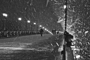 Arte fotográfico The Moscow blizzard