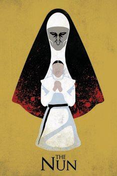 Kunsttryk The Nun - Ondt bagud