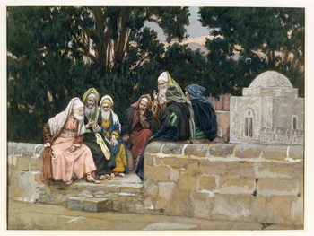 Reproducción de arte  The Pharisees and the Herodians, illustration for 'The Life of Christ', c.1886-96