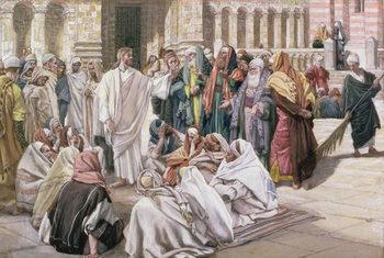 Festmény reprodukció The Pharisees Question Jesus