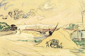 The Pile of Sand, Bercy, 1905 Kunstdruck