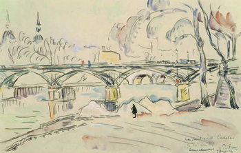 The Pont des Arts, 1924 Kunsttryk
