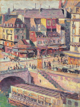 The Pont Saint-Michel and the Quai des Orfevres, Paris, c.1900-03 Kunstdruk