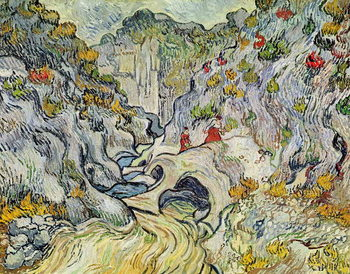 The ravine of the Peyroulets, 1889 Kunstdruk