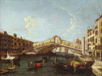 The Rialto in Venice Kunstdruck