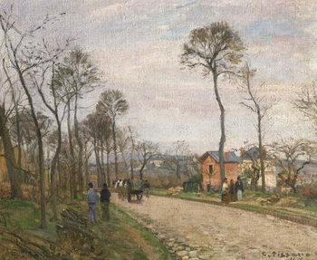 The Road from Louveciennes, 1870 Kunstdruk