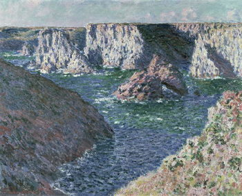 The Rocks of Belle Ile, 1886 Kunstdruck