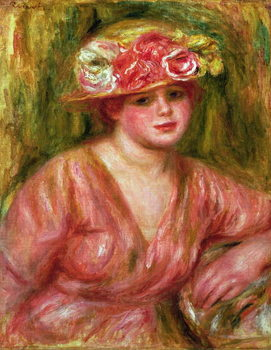 Obrazová reprodukce  The Rose Hat or Portrait of Lady Hessling