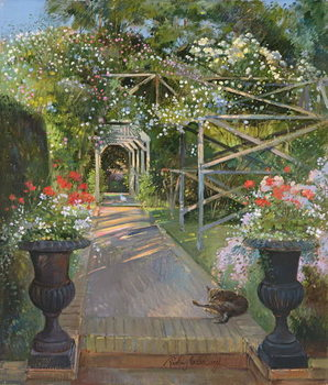 The Rose Trellis, Bedfield, 1996 Kunstdruck