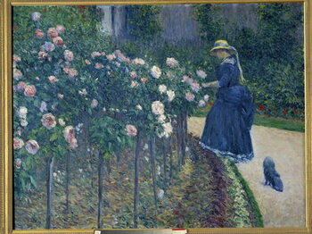 Obrazová reprodukce The roses. Garden of the little Gennevilliers. Painting by Gustave Caillebotte , 1886. Private collection - Roses. Garden at the Pete Gennevilliers. Painting by Gustave Caillebotte , 1886. Private collection