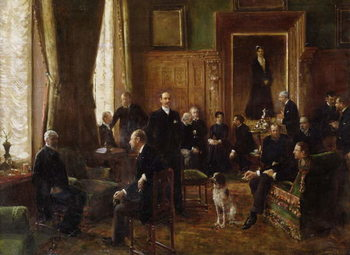 Reproducción de arte  The Salon of the Countess Potocka, 1887