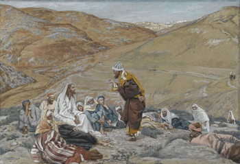 Reproducción de arte  The Scribe Stood to Tempt Jesus, illustration from 'The Life of Our Lord Jesus Christ', 1886-94