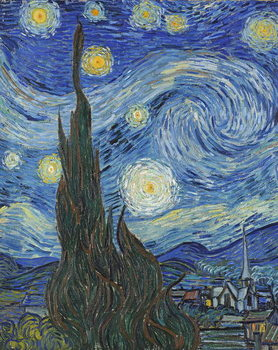 The Starry Night, June 1889 (oil on canvas) Reproduction de Tableau