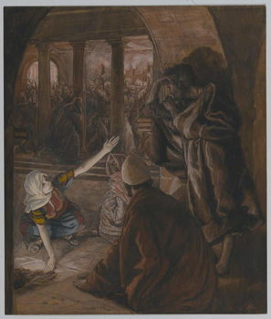 Reproducción de arte The Third Denial of Saint Peter - Jesus' Look of Reproach, illustration from 'The Life of Our Lord Jesus Christ', 1886-94