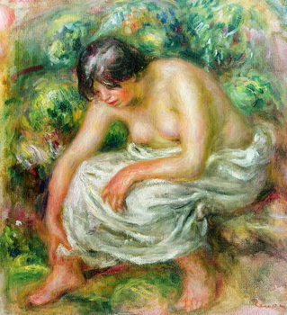 Kunstdruck The toilet after the bath, 1915
