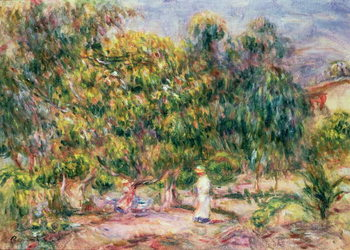 The woman in white in the garden of Les Colettes, 1915 Reproduction d'art
