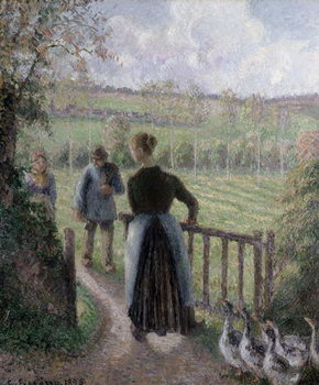 The Woman with the Geese, 1895 Kunstdruck