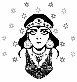 Kunstdruck Theda Bara, American silent film actress