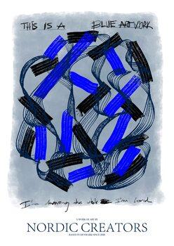 Ilustrácia This is a blue artwork