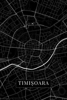Mapa Timisoara black