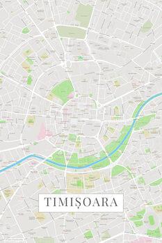 Mapa Timisoara color