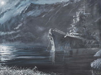 Tirpitz The Lone Queen Of The North 1944, 2007, Reproduction de Tableau
