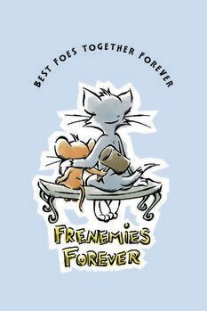 Umelecký tlač Tom a Jerry - Nepriatelia navždy