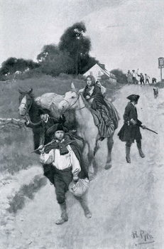 Reproducción de arte  Tory Refugees on Their Way to Canada, illustration from 'Colonies and Nation' by Woodrow Wilson, pub. Harper's Magazine, 1901