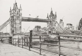 Tower Bridge London, 2006, Kunstdruck