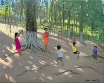 Tree Swing, Elephant Island, Bombay, 2000 Reproduction de Tableau