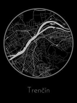 Mapa Trenčín