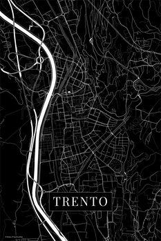 Mapa Trento black