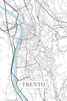 Mapa Trento white
