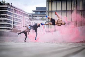 Photographie d'art Tricking with Ahmed Chouikhi, Mehdi Ahrad & Kevin Karlton