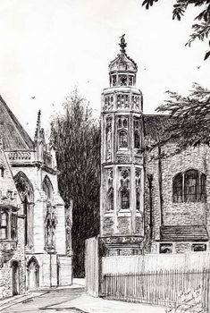 Reproduction de Tableau Trinity Street Cambridge, 2008,