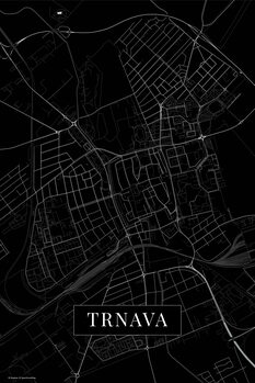 Mapa Trnava black