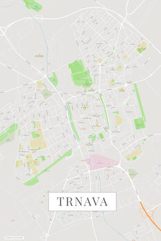 Mapa Trnava color