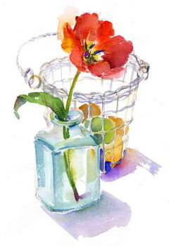 Stampa artistica Tulip with Egg basket, 2014,