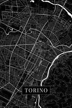 Mapa Turín black