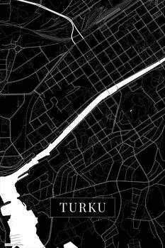Mapa Turku black
