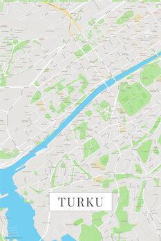 Mapa Turku color