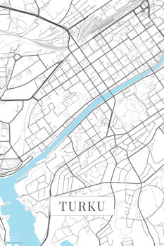Mapa Turku white