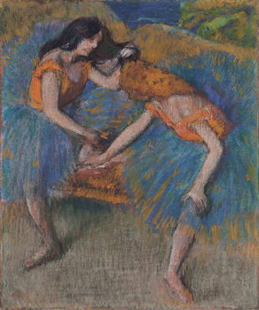 Kunsttryk Two Dancers with Yellow Corsages, c.1902