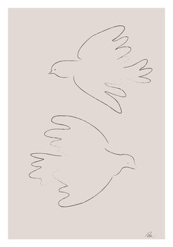 Ilustrace Two Doves