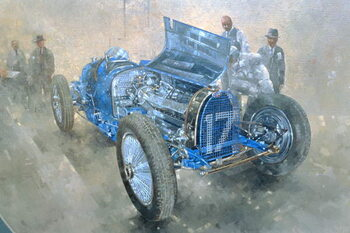 Reproduction de Tableau Type 59 Grand Prix Bugatti, 1997