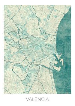 Zemljevid Valencia