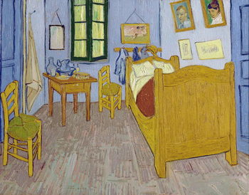 Reproducción de arte Van Gogh's Bedroom at Arles, 1889