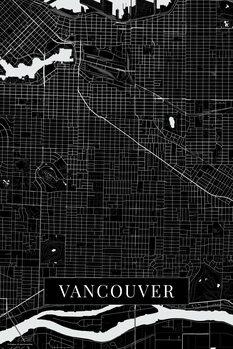 Mapa Vancouver black