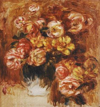 Kunstdruk Vase of Roses; Vase de Roses,