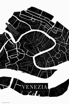 Mapa Venezia black